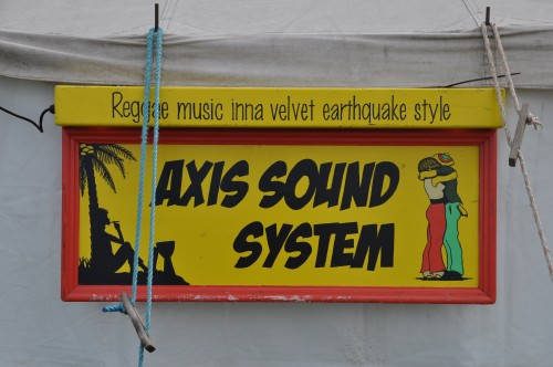 Axis Sound System Tent - the Reggae Tent for short