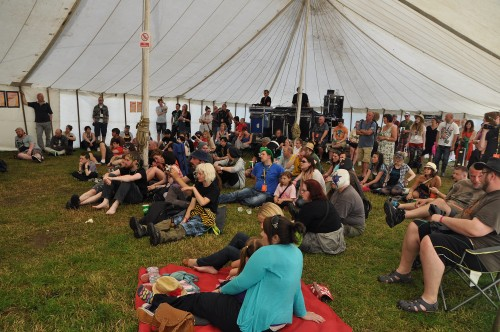 Chilling in the GoNorth Tent