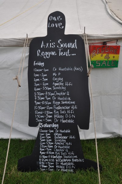 Reggae Order of Play