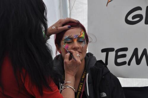 Facepainting - Wickerman Festival 2012