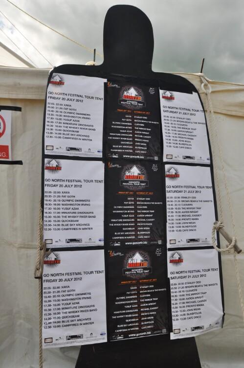 Go North Signage - Wickerman Festival 2012