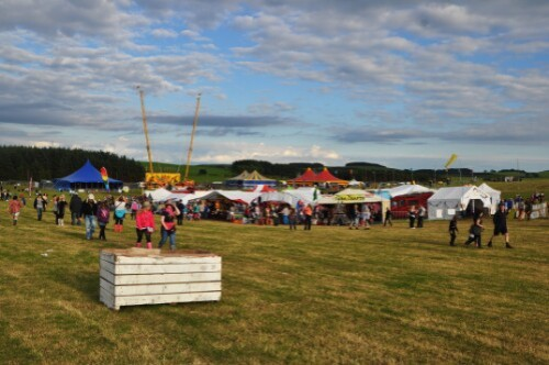 Stalls and Dance Tents - Wickerman Festival 2012