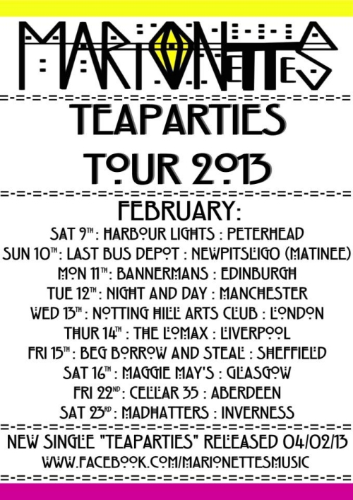 The Marionettes Tour Poster 2013