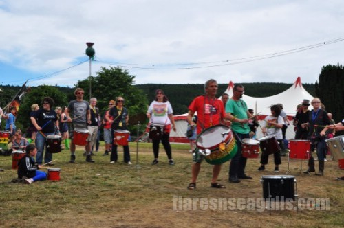 Drummers - Belladrum Festival 2013