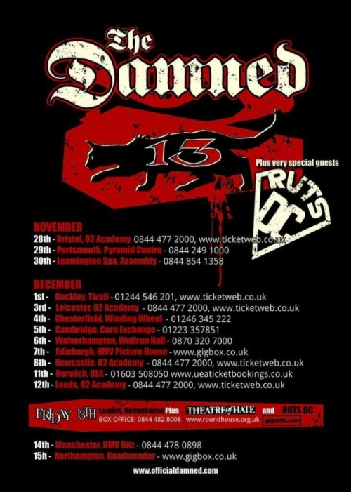 The Damned Ruts DC TYour Poster 2013